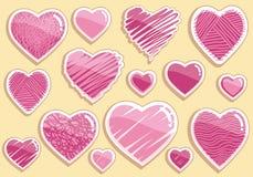 комплект сердца чертежей Стоковое Изображение