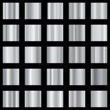 Комплект серебряного градиента Металлическое собрание градиента вектор Стоковое Изображение