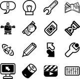 комплект серии иконы применений Стоковые Изображения