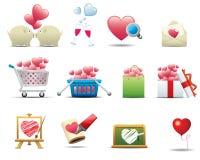 комплект серии иконы сердца наградной Стоковые Изображения RF