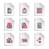 комплект серого цвета 14 документов Стоковое Изображение