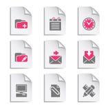 комплект серого цвета 27 документов Стоковое Изображение