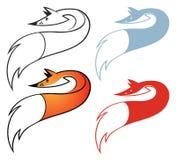 Комплект символов лисицы иллюстрация вектора