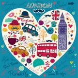 Комплект символов Лондон Стоковое Изображение