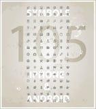 Комплект символов iphone сети передвижной   Стоковая Фотография RF