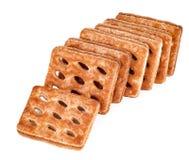 Комплект сладостного печенья слойки изолированного на белизне Стоковая Фотография
