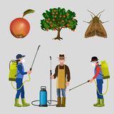 Комплект службы борьбы с грызунами и паразитами бесплатная иллюстрация