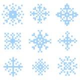 Комплект снега пиксела Стоковое Фото