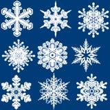 Комплект снежинки Стоковые Фото