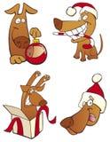 комплект собаки рождества иллюстрация вектора