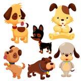 Комплект собаки шаржа иллюстрация вектора