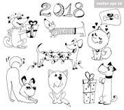 Комплект собаки иллюстрация вектора