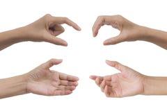 Комплект собрания жеста рукой и знака изолированного на белом backgr Стоковые Фотографии RF
