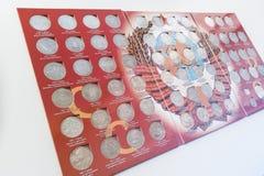 Комплект собрания редких монеток Советского Союза Стоковая Фотография RF