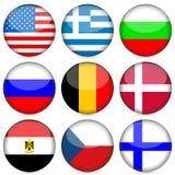 комплект соотечественника иконы флага иллюстрация штока