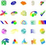 Комплект сортированных примеров логоса Стоковая Фотография