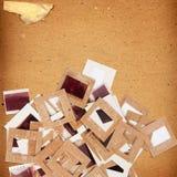 Комплект старых винтажных скольжений, фото и фильма Стоковые Изображения