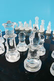 комплект стекла шахмат стоковые фотографии rf