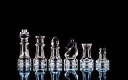 комплект стекла шахмат Стоковые Изображения RF