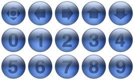 комплект стекла 5 кнопок Стоковое Изображение RF