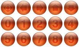 комплект стекла 5 кнопок Стоковые Фото