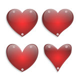 Комплект стеклянных сердец Стоковые Изображения RF