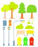 Комплект стилизованного дерева Иллюстрация штока