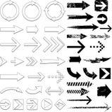 комплект стрелки Стоковые Изображения