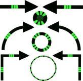 Комплект стрелок и кругов в стиле космоса бесплатная иллюстрация