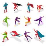 Комплект супергероев равновеликий иллюстрация штока