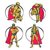 Комплект супергероя Стоковое Изображение
