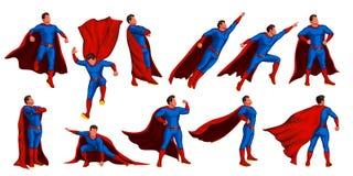 Комплект супергероя иллюстрация вектора