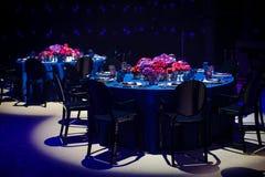 Комплект таблицы для wedding или другого поставленный еду обедающего события Стоковая Фотография RF