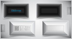 Комплект творческих визитных карточек Стоковые Изображения RF