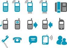 комплект телефона иконы Стоковое фото RF