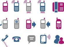 комплект телефона иконы бесплатная иллюстрация