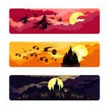 Комплект тематических изображений на хеллоуин стоковое фото rf