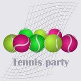 Комплект теннисных мячей Стоковое фото RF