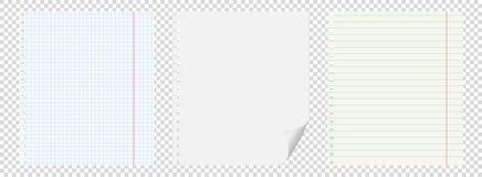 Комплект 3 тетрадей с отверстиями от весен на прозрачной предпосылке в коробке, Стоковое фото RF