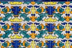 Комплект типичных каталонских мозаик, с мотивами животного и природы B Стоковые Фотографии RF
