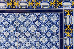 Комплект типичных каталонских мозаик, с мотивами животного и природы B Стоковая Фотография RF