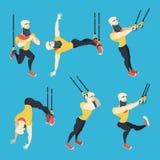 Комплект тренера шаржа Trx мужской Стоковое Фото