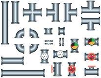 комплект трубопровода трубы конструкции Стоковая Фотография