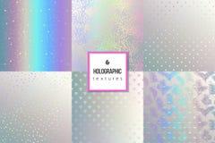 Комплект ультрамодных голографических текстур бесплатная иллюстрация