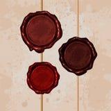 Комплект уплотнения воска цвета и чистит веревочку щеткой Стоковые Фото