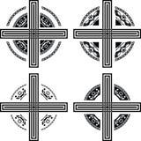 комплект фантазии крестов иллюстрация штока