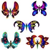 Комплект фантастических бабочек 6 Стоковое Фото