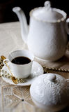 комплект фарфора кофе Стоковые Изображения