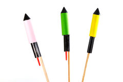 Комплект феиэрверков на ручке Стоковые Фото
