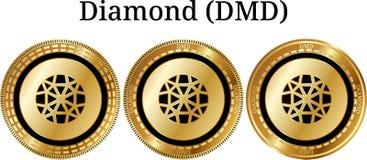 Комплект физического золотого диаманта DMD монетки Стоковая Фотография RF